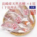 ご自宅用 煮付けに!焼き魚に!長崎産天然真鯛(下処理済み)4尾 [内食まとめ買い]
