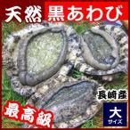 産直  天然黒アワビ 220g前後1枚 九州九十九島の豊かな自然で育ちました。新鮮黒あわび 同梱 お祝い