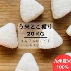 【送料無料】数量限定 生活応援価格 平成29年産 九州産米 う米とこ獲り 精白米20kg(10kg×2袋)
