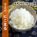 九州熊本県産米 にこまる【送料無料】平成30年産米 玄米30kg(10kg×3袋)