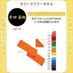 【名入れ無料】 タオル スポーツ カラーマフラータオル 記念品 卒団 刺繍