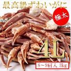 ニッスイ青箱・生冷ずわい蟹4L・3kg(9肩入)オピリオ種・ズワイガニ・カニ鍋・BBQ