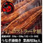 極太うなぎ蒲焼き15-16尾入・5kg 業務用・中国産・鰻・ウナギ・ロストラータ種