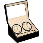 LUYING ワインディングマシーン (4本巻き+6本収納) ウォッチワインダー 自動巻き時計ワインディングマシーン 静音設計 腕時計自動巻