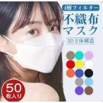KF94マスク 50枚入り 柳葉型 立体マスク 韓国風 口紅がつきにくい 飛沫防止 4層フィルター 男女兼用 使い捨て 通気性 小顔効果 送料無料