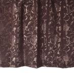 オーダーカーテン 965005BR 王朝柄 ブラウン 巾70〜100cm×丈111〜140cm 1.5倍ヒダ 形態安定加工付