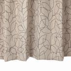 リーフ柄カーテン ブラウン 幅100cm×丈200cm2枚 un0054 遮光カーテン  おしゃれなカーテン