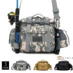 ショルダーバッグ ウエストバッグ 釣り バッグ 3way 防水 フィッシングバック 迷彩柄 大容量 多機能 バッグ カバン かばん
