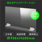 4月中旬予約販売 日本製 お得な2枚セット ウイルス対策 透明 アクリルパーテーション W900mm×H600mm パーテーション アクリル板 仕切り板 衝立 dptx-9060-2set