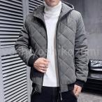 中綿コート メンズ 冬 アウター 厚手 中綿ジャケット ダウン風コート パーカー ジャンパー 暖かい 防寒 大きいサイズ おしゃれ スリム シンプル 細身 紳士 新品