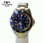テクノス 腕時計 (TECHNOS)  ブルー  自動巻き 10気圧防水 (正規品) T4248TN メンズ裏スケルトン