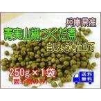 青実山椒佃煮(白醤油仕立て)250g(固形物のみ)×1袋  メール便でお届け 大袋でお買い得!
