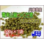 青実山椒佃煮(白醤油仕立て)500g(固形物のみ)×1袋  メール便でお届け 大袋でお買い得!