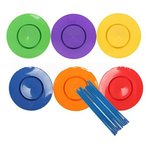皿回しセット 棒 道具 6枚セット 宴会グッズ パーティーグッズ カラフル 子供 YOHO