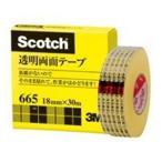 (まとめ)スリーエム 3M 透明両面テープ 665-1-18 18mm×30m〔×2セット〕