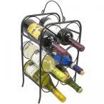 Yahoo!ゆにゅうどっとねっとSorbus メタルクラシックアーチスタイルワインスタンド 6本収納 ワインラック フリースタンドワインホルダーラック