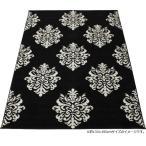 輸入 ラグ カーペット ウィルトン織り トルコ製 アポロン (SUL) ブラック 約200×250cm 上品 大人かわいい