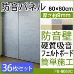 硬質吸音フェルトボード  防音パネル 吸音 防音壁 フェルメノン(Do) 約60×80cm 36枚 防音室 オーディオルームに