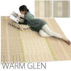 ラグ ラグマット 吸湿発熱ラグ じゅうたん 絨毯 ジュータン ウォームグレン(S) 190×190cm あったかアイテム