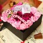 BOXフラワー S 誕生日 バラ カーネーション かわいい おしゃれ 画像 文字 ショップ フラワーケーキ キュート 箱 オルゴール ボックス