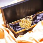 数量限定 24金コーティング 「ゴールドローズ」 プリザーブドフラワー バラ ボックス GOLD BOX 金 サプライズ プロポーズ プレゼント