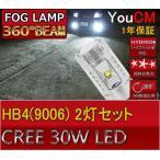 メルセデスベンツ Cクラス H16.6〜H18.2 W203 フォグランプ専用LED HB4(9006) 30W ハイパワー[1年保証][YOUCM]