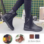 ブーツ レディース ウエスタンブーツ ショートブーツ  ローヒール ブーツ ショート シューズ 歩きやすい シンプル ショートブーツ 防水 大きいサイズ 秋 冬 黒