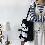 トートバッグ レディースバッグ パンダ ショルダーバッグ カバン カジュアル トートバック かばん 鞄 可愛い プレゼント ギフト カジュアル 肩掛け 白 黒