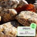 花崗岩 ゴロタ石 錆色 さび砂利 三重県産 天然砂利 和風 伊勢ゴロタ 2寸(6〜7cm )  約  5kg入り