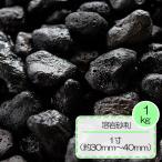 砂利 黒 溶岩 砂利 テラリウム水槽 庭 敷き ガーデニング 溶岩砂利 ブラック 1寸 (約30〜40mm) 1kg