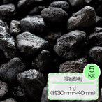 砂利 黒 溶岩 砂利 テラリウム水槽 庭 敷き ガーデニング 溶岩砂利 ブラック 1寸 (約30〜40mm) 5kg