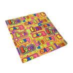バンダナ 55×55cm BANDANA ハンカチ ヘアアクセ スカーフ お弁当包み 大判 LOVE&PEACE柄 緑 ピンク