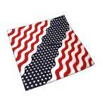 バンダナ 55×55cm BANDANA ハンカチ ヘアアクセ スカーフ お弁当包み 大判 星条旗柄