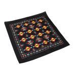 バンダナ 55×55cm ハンカチーフ 綿 正方形 ネイティブ柄 黒