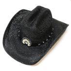 Ten-Gallon Hat - ウエスタンハット ストローハット 帽子 ITCHYGOONIE 2223BL 黒