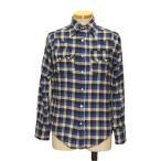 ウエスタンシャツ チェック フランネル ネルシャツ メンズ 長袖 カウボーイシャツ アメカジ おしゃれ 大きいサイズ S M L 青