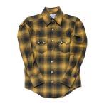 ウエスタンシャツ ネルシャツ チェック 長袖シャツ アメカジ 黄色