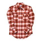 ウエスタンシャツ ネルシャツ チェック 長袖シャツ アメカジ 赤