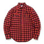 ウエスタンシャツ ネルシャツ チェックシャツ アメカジ 赤