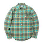 ウエスタンシャツ ネルシャツ チェックシャツ メンズ アメカジ 緑