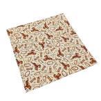 バンダナ(55×55cm) BANDANA ハンカチーフ スカーフ お弁当包み 正方形 プレゼント ブーツ ハット ベージュ