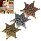 バッジ 保安官バッジ ピンバッジ トイストーリー ウッディー 3色