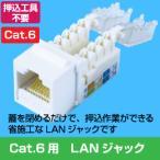 Cat.6 RJ45 LAN用ジャック(壁面端子・ローゼット用)(専用工具不要 配線 LANケーブル  )(e4270)●