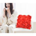 【セレブクッション】薔薇を基調としたシックなデザイン フラワークッション 40x40cm 【おしゃれ/クッション/インテリア/クッション/ふわふわ/手触り/もこもこ