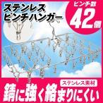【送料無料】ステンレス ピンチハンガー 42ピンチ 角型 洗濯用品 物干し ピンチハンガー サイズ61.5x34cm(000000033465-1)