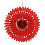 ペーパーファン レッド 赤 40cm 装飾 デコレーション 撮影 9色あり