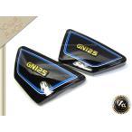 新品 GN125 サイドカバー 黒×青 サイドカウル GN125H ブラック