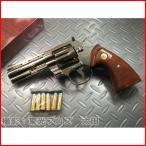 タナカ 発火モデルガン コルトパイソン .357マグナム 4インチ Rモデル ニッケルフィニッシュ 4537212007887