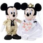 Yahoo!ユウセイ堂ディズニー ブライダルぬいぐるみ Mサイズ ミッキーマウス&ミニーマウス 洋装