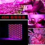 LED 植物育成 225 45W LED 植物育成ライト 水耕栽培ランプ 室内 LEDパネル 照明 人気